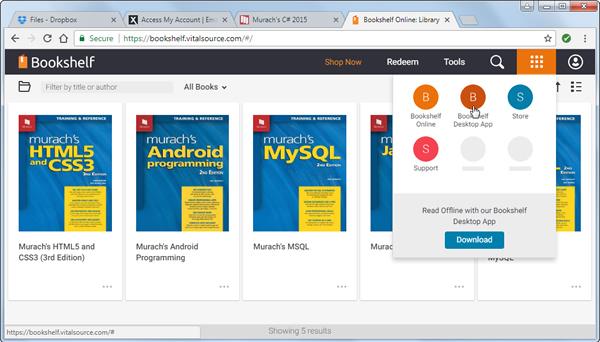 Offline download menu